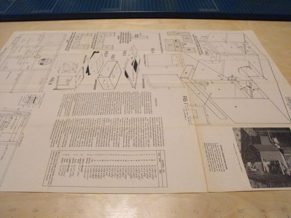 R-ANH0283 - Kitchen U-Shape Work Center Vintage Woodworking Plan