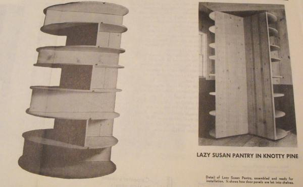 R-ANH0285 - Lazy Susan Pantry Vintage Woodworking Plan