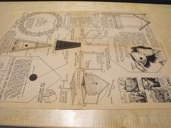 R-ANH0323 - 4 Rustic Birdhouses Vintage Woodworking Plan
