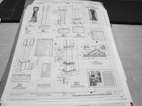 Hall Clock Vintage Woodworking Plan