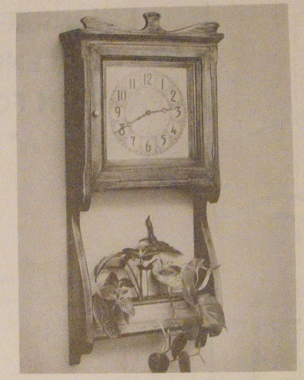 Antique Wall Clock and Planter Vintage Woodworking Plan