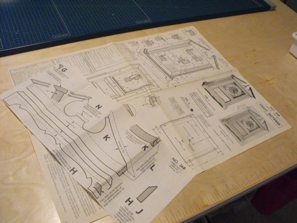 Minute Man Shelf Clock Vintage Woodworking Plan.