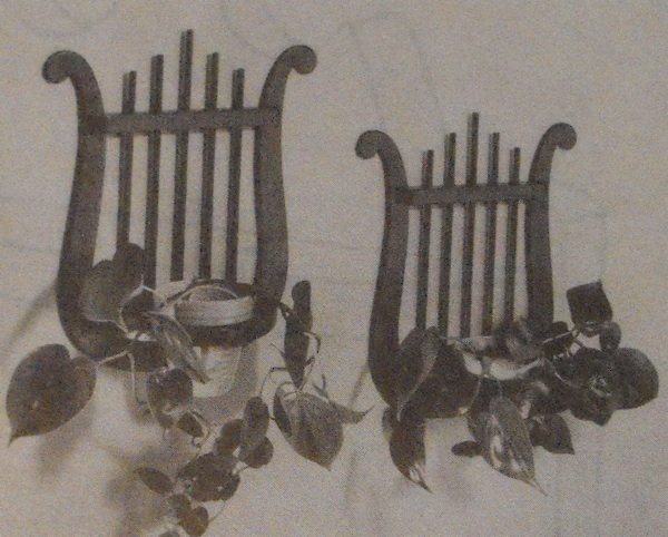 Lyre Planters Vintage Woodworking Plan