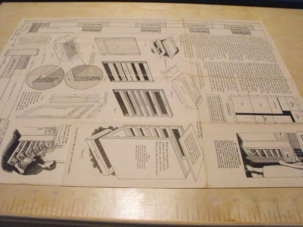 R-ANH0376 - Canned Foods Cabinet Vintage Woodworking Plan