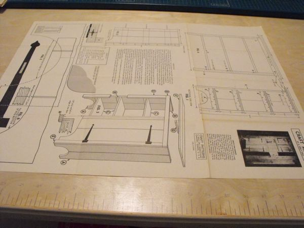 R-ANH0377 - A Knotty Pine Base Cabinet Vintage Woodworking Plan.