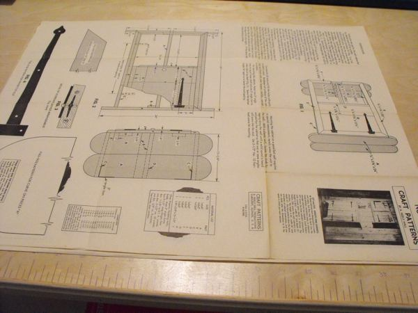 R-ANH0378 - A Knotty Pine Upper Cabinet Vintage Woodworking Plan
