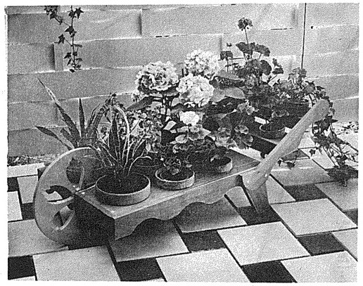 Barrow Planter for Potted Plants Vintage Woodworking Plan