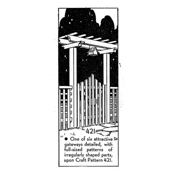 R-ANH0421 - Six Garden Gateways Vintage Woodworking Plan