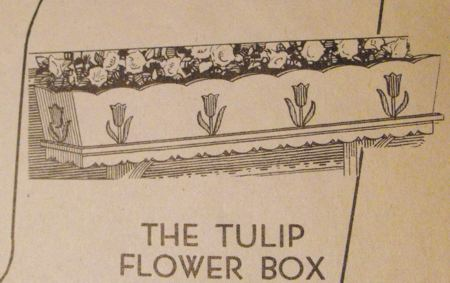 R-ANH0424 - The Tulip and American Emblem Flower Box Vintage Woodworking Plan Set
