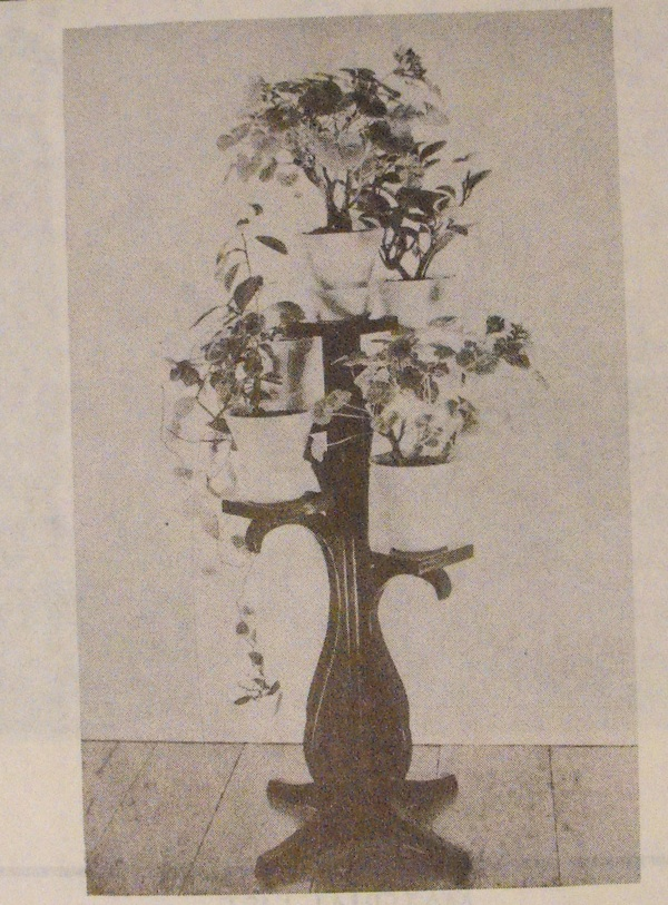 Four-Wing Plant Stand Vintage Woodworking Plan