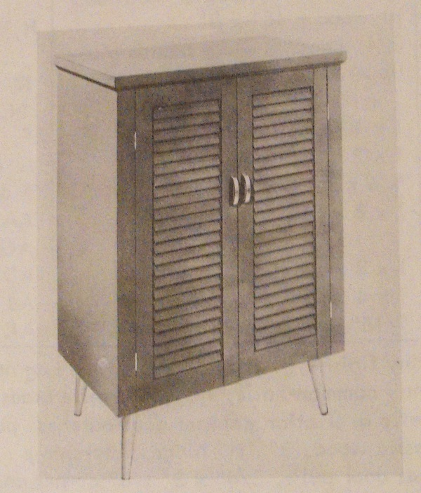 A Modern Shoe Cabinet with Shutter Panel Door Vintage Woodworking Plan