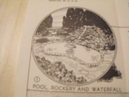 R-ANH0518 - Garden Creations Pools Waterfalls Bird Baths Vintage Woodworking Plan