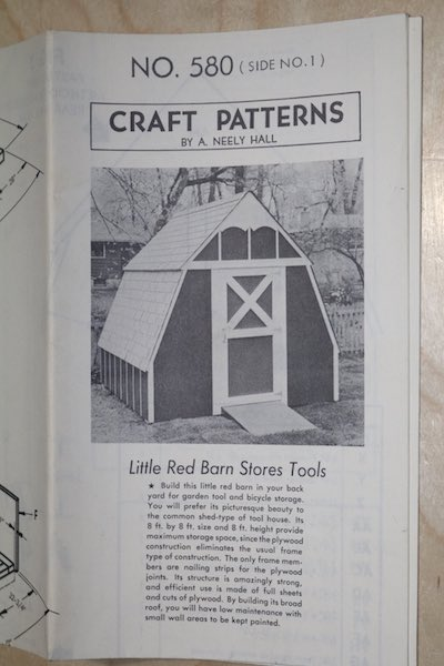 Little Red Barn Stores Tool Vintage Woodworking Plan