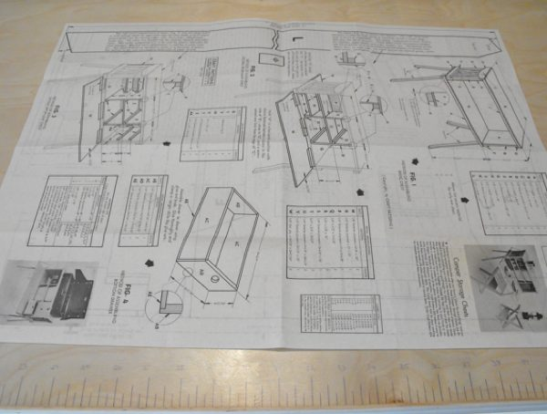 Camper Storage Chest Vintage Woodworking Plan.