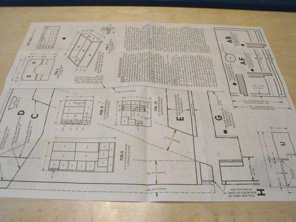 R anh0603 camper storage chest vintage woodworking plan for Campervan furniture plans