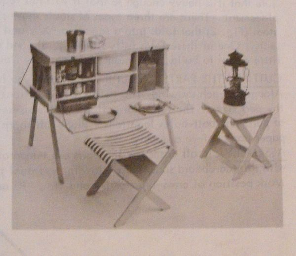 Camping Stools Vintage Woodworking Plan.
