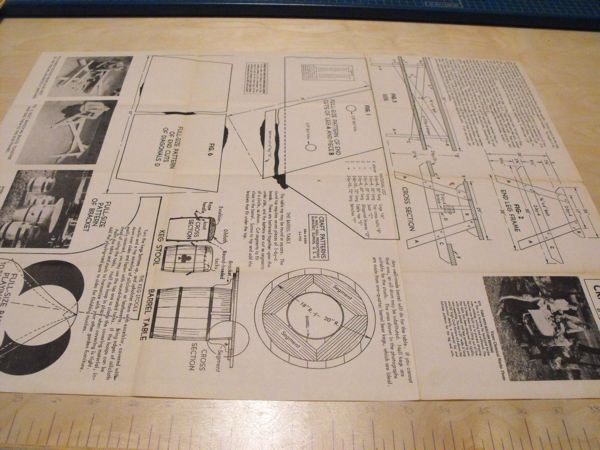 R-ANH0614 - Table with Built In Benches Vintage Woodworking Plan