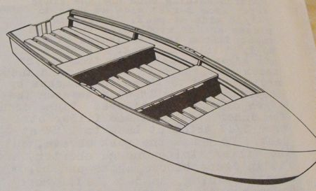 R-ANH0627 - Plywood V-bottom Outboard Boat Vintage Woodworking Plan Part 2