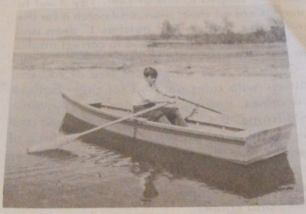 A Flat Bottomed Rowboat Vintage Woodworking Plan.