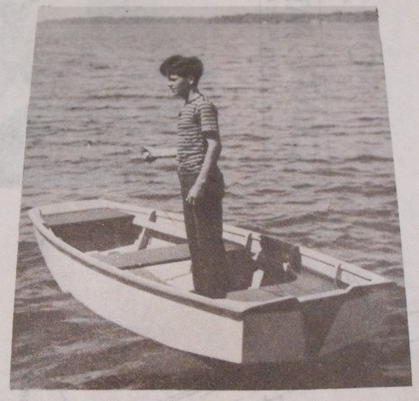 Little Giant Plywood Pram Boat Vintage Woodworking Plan.