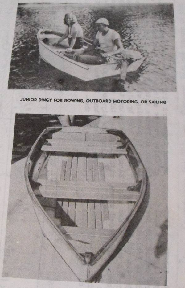 Junior Dinghy Boat Vintage Woodworking Plan