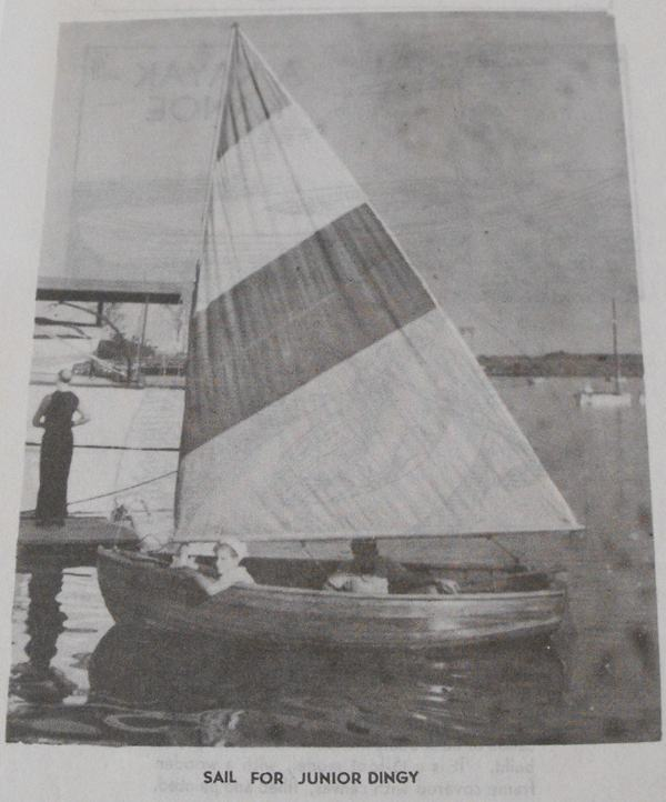 Sail for Junior Dinghy Vintage Woodworking Plan