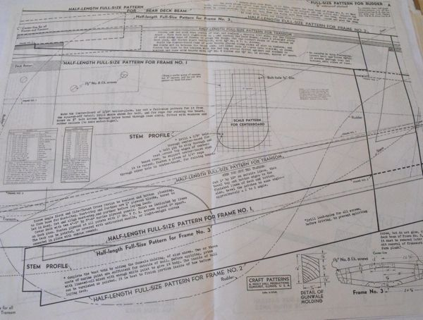 R-ANH0636/637/638 - 12 ft Sailboat with Marconi Rig Vintage Woodworking Plan