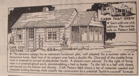 Cape Cod Cottage Vintage Woodworking Plan.