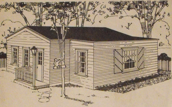 Garage or Cottage Vintage Construction Plan