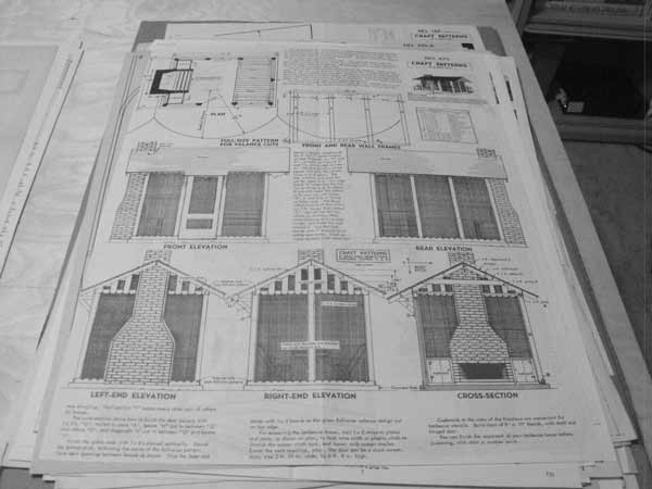 Barbecue House Vintage Woodworking Plan.