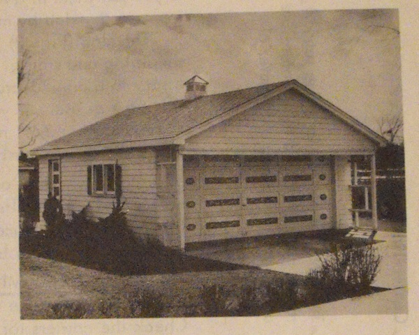 R-ANH0687 - A Two-Car Garage with Side Entrance Vintage Woodworking Plan