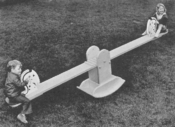 R-ANH0705 - Rocker SeeSaw Vintage Woodworking Plan.