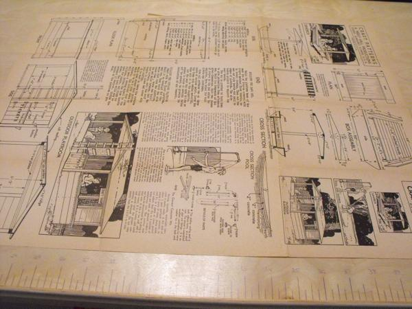 R-ANH0706 - Playroom-Sandbox-Pool-and-Shower Vintage Woodworking Plan