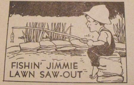 R-ANH0723 - Fishin Jimmie Lawn Saw-Out Vintage Woodworking Plan