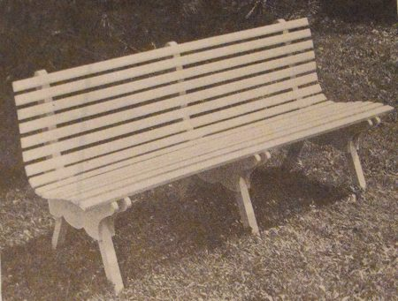 A Lawn or Patio Bench Vintage Woodworking Plan.