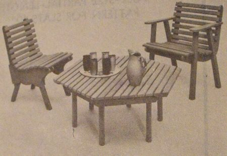 Patio Table Vintage Woodworking Plan
