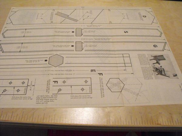 R-ANH0750 - Patio Table Vintage Woodworking Plan