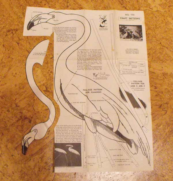 A Pair of Flamingoes Vintage Woodworking Plan