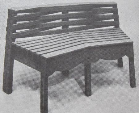 A Polygon Bench Vintage Woodworking Plan