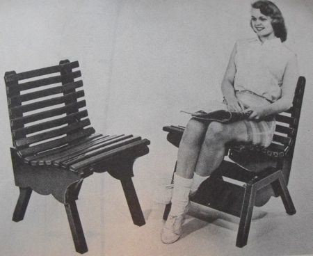 Lawn Platform Rocker Vintage Woodworking Plan.