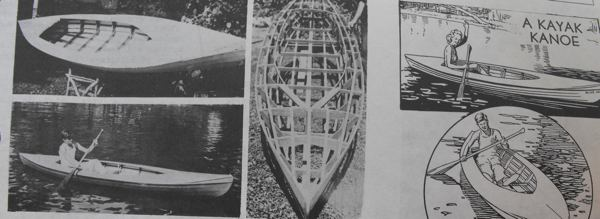 A Kayak Kanoe Vintage Woodworking Plan
