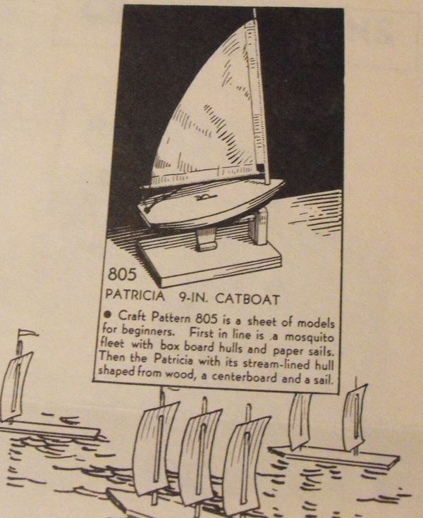 Patricia 9 inch Catboat Vintage Woodworking Plan