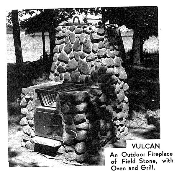 Outdoor Stone and Brick Fireplaces Vintage Woodworking Plan