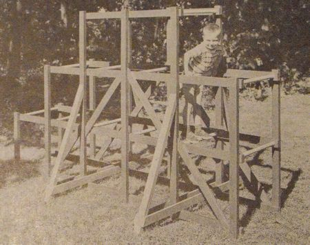 Sturdy Climbing Set Vintage Woodworking Plan