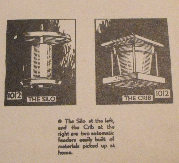 2 Bird Feeder Vintage Woodworking Plans, The Silo and The Crib