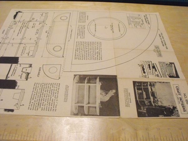 R-ANH1016 - Window Bookcase Vintage Woodworking Plan