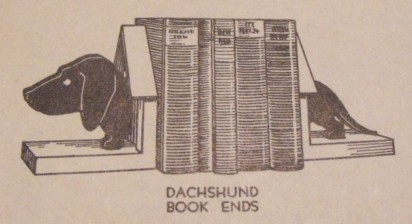 R-ANH1021 - Daschund Book Ends Vintage Woodworking Plan
