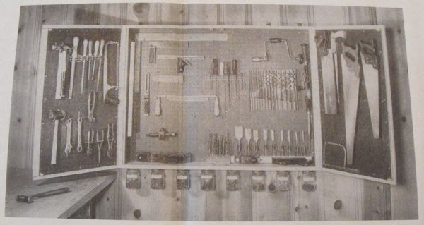 Deluxe Cabinet for Hand Tools Vintage Woodworking Plan