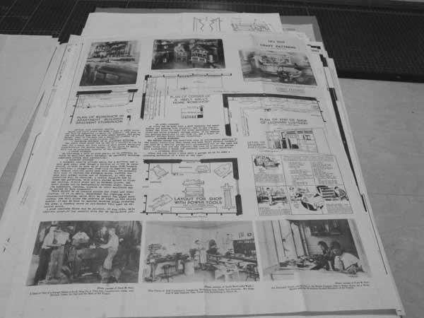 R-ANH1035 - Plan Your Workshop Vintage Woodworking Article