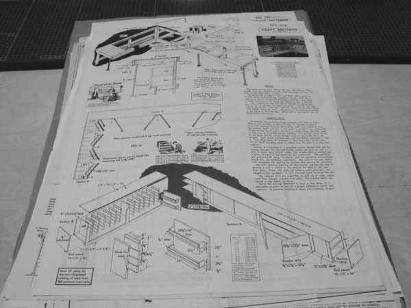 R-ANH1036 - Work Bench and Base Cabinets Vintage Woodworking Plan